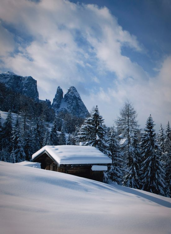 Winter Landscape of Unesco World Heritage Dolomites